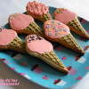 Galletas decoradas: Helados