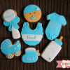 Galletas decoradas: Bautizo de Raúl