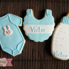 Galletas decoradas: Bautizo de Victor