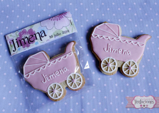 Galletas decoradas: Bautizo de Jimena